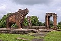 Eran - Monolithic Varaha and ruined Vishnu Temple in background.jpg