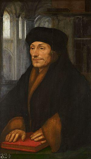 Portrait of Erasmus (Dürer) - Hans Holbein, Portrait of Desiderius Erasmus. c 1520-40. Royal Collection, London