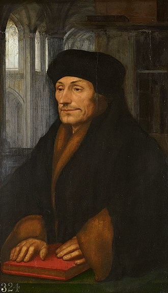 Portrait of Erasmus (Dürer) - Hans Holbein, Portrait of Desiderius Erasmus. c 1520-40. Royal Collection, London