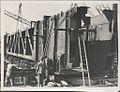 Erection of metal formwork on the southern platform of the Sydney Harbour Bridge, 1928 (8283768556).jpg