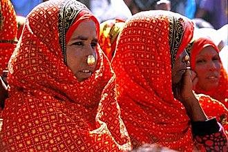 Saho people - Saho women in traditional attire.