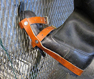 Escape attempts and victims of the inner German border - Boot modified with metal hooks to enable the wearer to climb the border fence