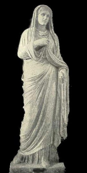 Eumachia - The statue erected in honor of Eumachia at Pompeii