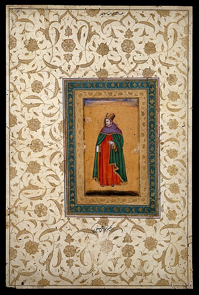 File:European priest carrying a book and holding a Wellcome L0031254.jpg