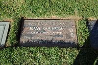Eva Gabor grave at Westwood Village Memorial Park Cemetery in Brentwood, California.JPG