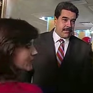 Eva Golinger - Golinger meeting with President Nicolás Maduro during a ceremony of the Presidential Honor Guard, SEBIN and DGCIM