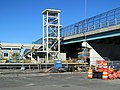 Everett Street elevator shaft for Boston Landing station under construction, October 2016.JPG