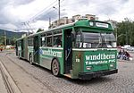 Ex-Basel FBW trolleybus 918 at Saturn terminus in Brasov, 2006.jpg