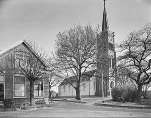 Usquert - Protestant church of Usquert in 1991