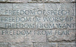 Four Freedoms 1941 State of the Union goals