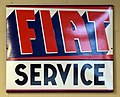 FIAT service, Enamel advert sign at the den hartog ford museum pic-027.JPG
