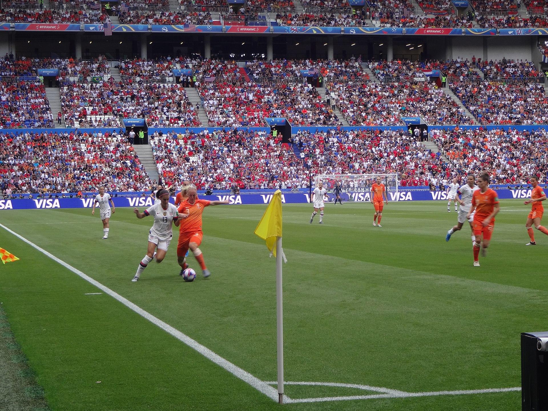 FIFA Women's World Cup 2019 Final - Alex Morgan and Stefanie van der Gragt.jpg