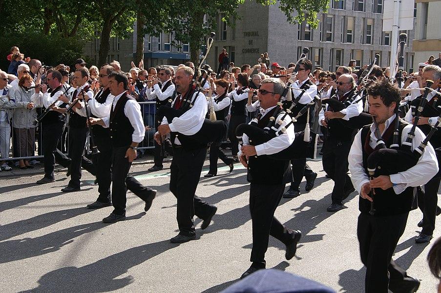 Le bagad de Saint-Nazaire, Festival interceltique de Lorient 2011.