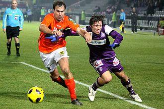 2010–11 Austrian Cup - Austria Wien vs. Wacker Innsbruck 2:1: Iñaki Bea Jauregi (left) against Marko Stanković.