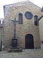 Façade de l'église de Sainte-Florine XVIIe & XIXe s.jpg