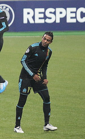 Fabrice Abriel - Abriel playing for Marseille in 2010