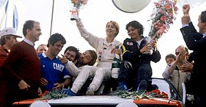 Fabrizia Pons - Fabrizia Pons (left) with Michèle Mouton after them winning at the 1981 Sanremo Rallye