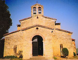 San Julián de los Prados - Facade of the church of San Julián de los Prados