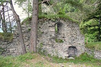 Landquart, Switzerland - North wall of Falkenstein Castle