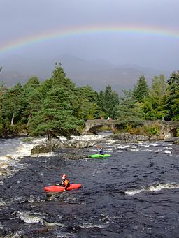 Falls of Dochart kayakers