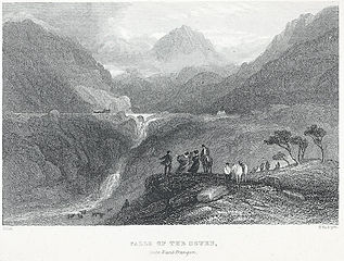 Falls of the Ogwen, into Nant Frangon