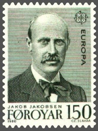 Jakob Jakobsen - Image: Faroe stamp 047 europe (jakob jakobsen)