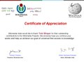 Featured Wikimedian Certificate for Tulsi Bhagat from Wikimedia India.pdf