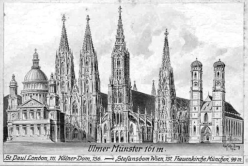 Felle Ulmer Münster und andere Türme