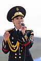 Female Mongolian soldiers is singing.jpg