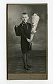 File-German school-boy (Heinrich Bruno Wittig), aged 7, with schultüte & schulranzen, on his first day of school, Zeulenroda, 1936.wittig-archiv.jpg