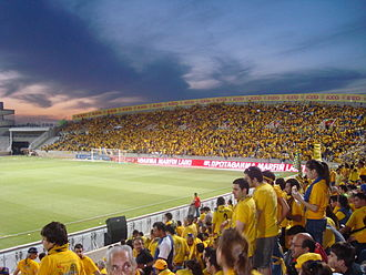 GSP Stadium - The stadium's north stand in the 2009 Cypriot Cup