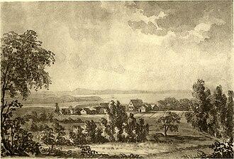 Finnøy - Drawing of the Finnøy prestegård