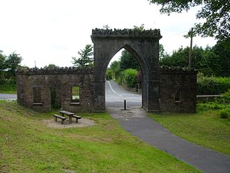 Boyle, County Roscommon - First Arch Entrance to Rockingham Estate
