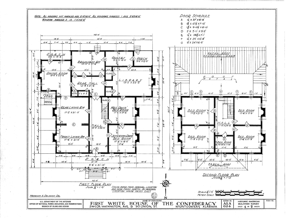 White house of the confederacy montgomery house plan 2017 for Montgomery house
