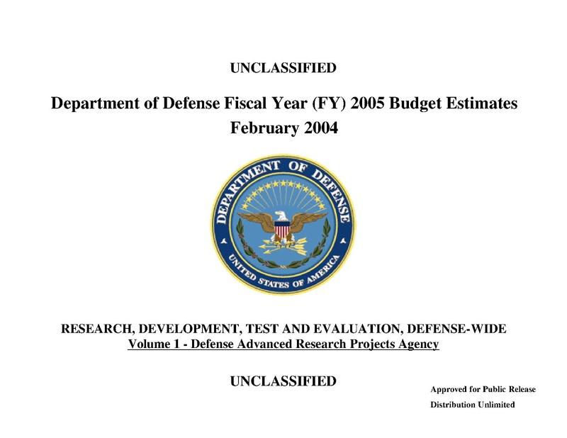 File:Fiscal Year 2005 DARPA budget.pdf