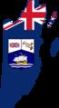Flag map of British Honduras (Belize) (1919 - 1981).png