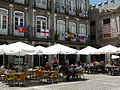 Flags in buildings in Largo da Oliveira during World Cup 2010.jpg