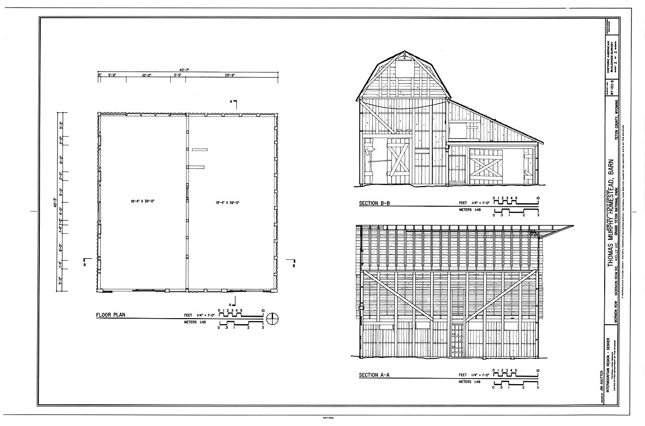 File:Floor Plan ^ Sections - Thomas Murphy Homestead, Barn ...