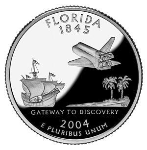 Florida's state quarter.