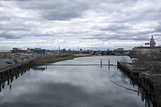 Flushing River Creek in Queens, New York