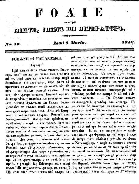 File:Foaie pentru minte, inima si literatura, Nr. 10, Anul 1842.pdf