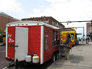 Mobile catering - A gyro truck in Athens, Ohio.