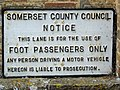 Foot Passengers Only, Langport - geograph.org.uk - 1913373.jpg