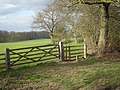 Footpath across the field towards Brewood - geograph.org.uk - 737584.jpg