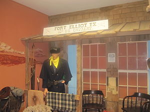 Mobeetie, Texas - Fort Elliot, home of the Tenth Cavalry, display at Pioneer West Museum