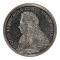 Framsida av medalj med Erik Lindschöld i profil - Skoklosters slott - 99428.tif