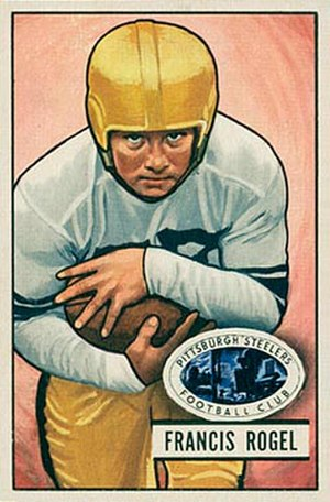 Fran Rogel - Rogel on a 1951 Bowman football card
