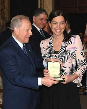 Francesca Comencini - Francesca Comencini with Carlo Azeglio Ciampi