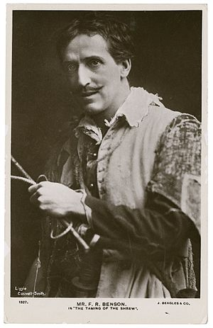 Frank Benson (actor) - A photograph of Frank Robert Benson as Petruchio from a 1901 performance of The Taming of the Shrew