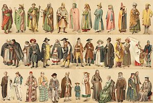 History of the Jews in France - Various costumes of medieval French Jews.